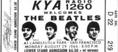 Your Ticket to The Beatles' Last Concert